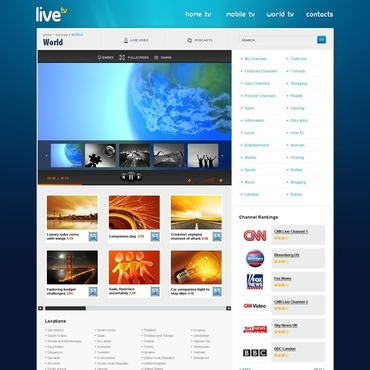 Satellite TV Website Template