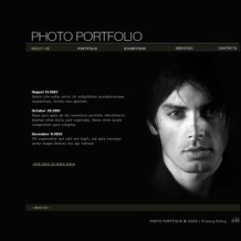 Photographer Portfolio SWiSH Template