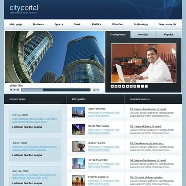 City Portal Website Template