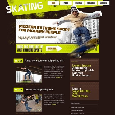 Skating WordPress Theme