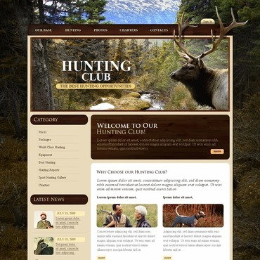 Hunting Website Template