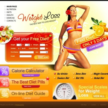 Weight Loss Website Template