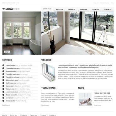 Window Website Template