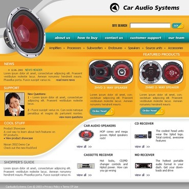 Car Audio Website Template