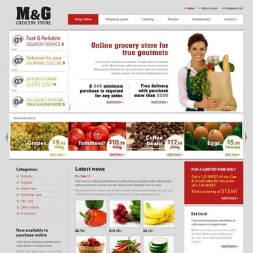 Grocery Store Website Template