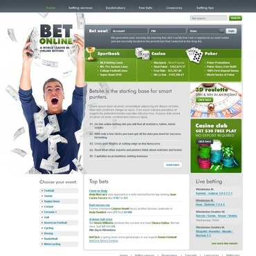 Online Betting Website Template