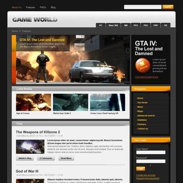Games Drupal Template