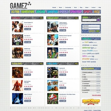 Flash Games Website Template