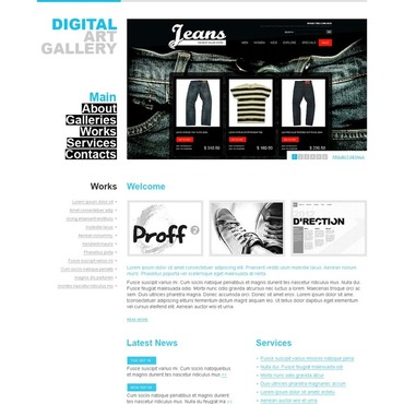 Art Gallery Website Template
