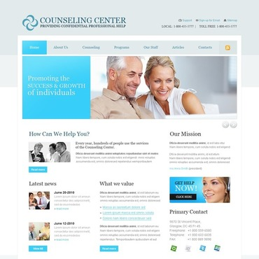 Counseling Website Template