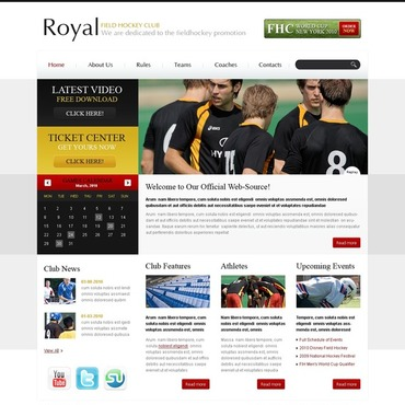 Field Hockey Website Template