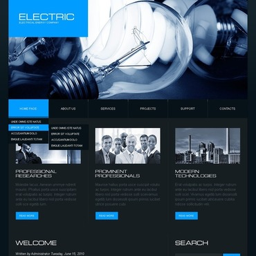 Lighting & Electricity Joomla Template