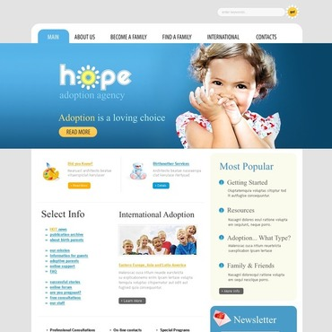 Adoption Agency Website Template
