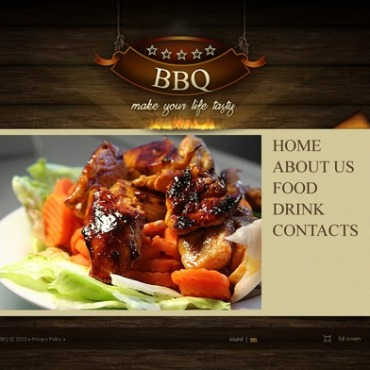 BBQ Restaurant Flash Template