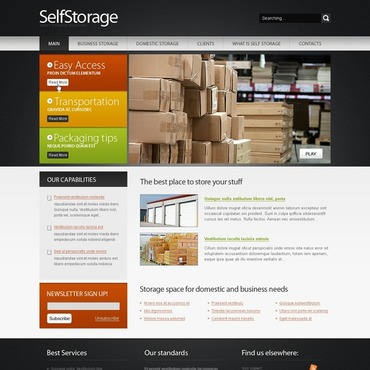 Packaging Website Template