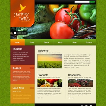 Vegetable Joomla Template