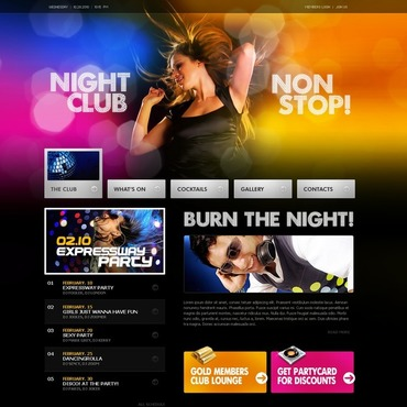 Night Club Turnkey Website 2.0