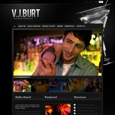 Cocktail Bar Website Template