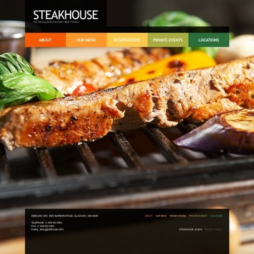 Steakhouse Website Template