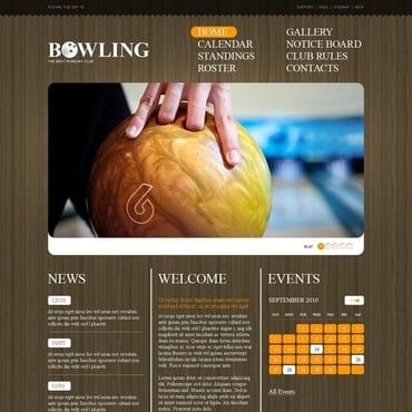 Bowling Website Template