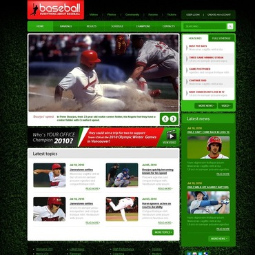 Baseball Website Template