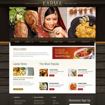 Indian Restaurant Website Template