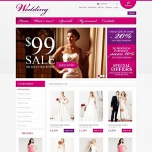 Wedding Shop OsCommerce Template