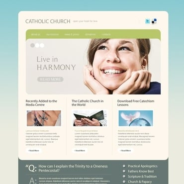 Catholic Church Website Template