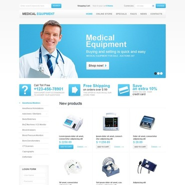 Medical Equipment VirtueMart Template