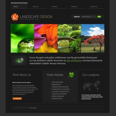 Landscape Design Website Template #33566