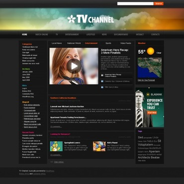 TV Channel WordPress Theme
