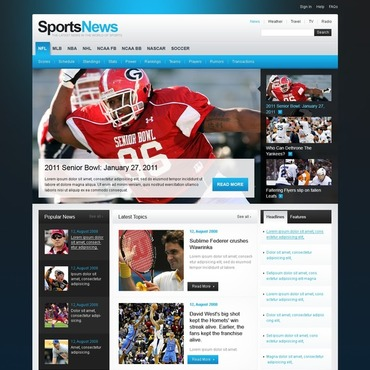 Sports News Website Template