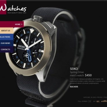 Watches Flash CMS Template