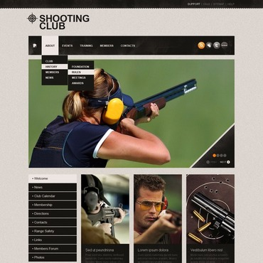 Shooting Website Template