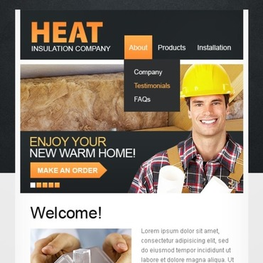 Maintenance Services Turnkey CMS Facebook Template