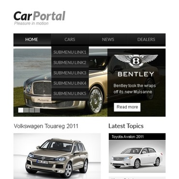 Car Turnkey CMS Facebook Template