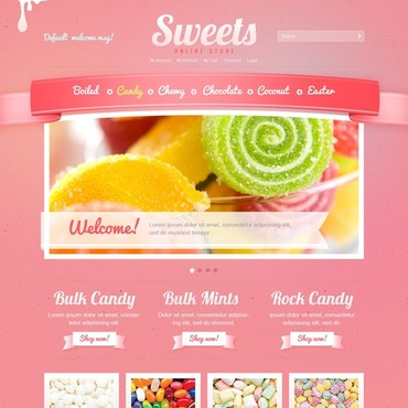 Sweet Shop Magento Theme