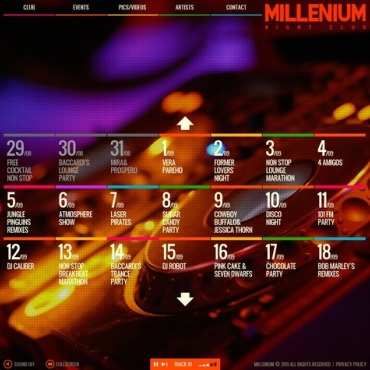 Night Club Facebook Flash CMS Template