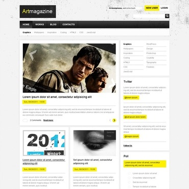 Art Web Drupal Template