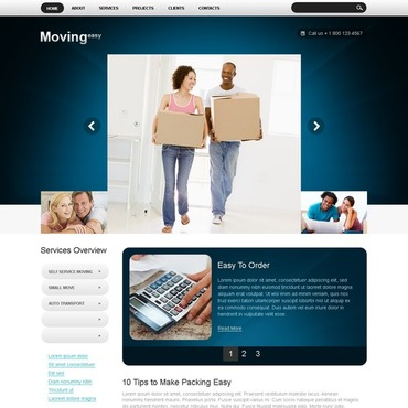 Moving Company Joomla Template