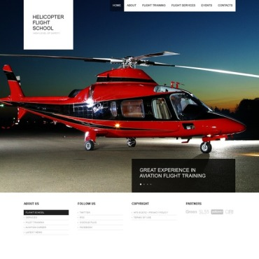 Flight School Website Template