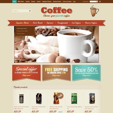 Coffee Shop OsCommerce Template