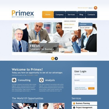 Financial Advisor Drupal Template