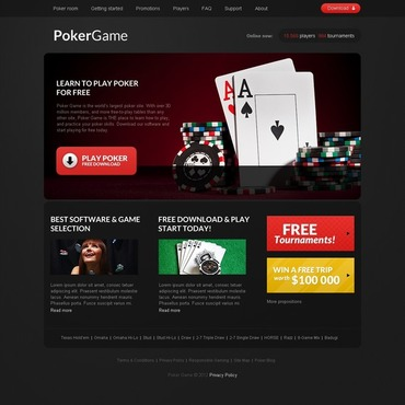 Online Poker Website Template