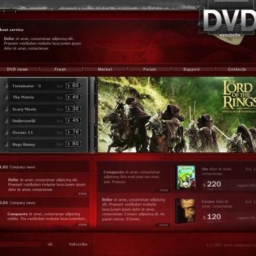 DVD Store Website Template