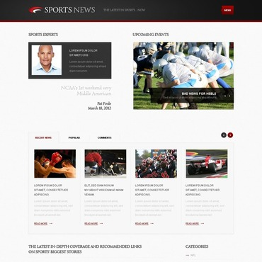 Sports News WordPress Theme
