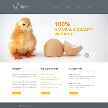 Poultry Farm Website Template
