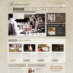 Cafe and Restaurant Facebook Flash CMS Template