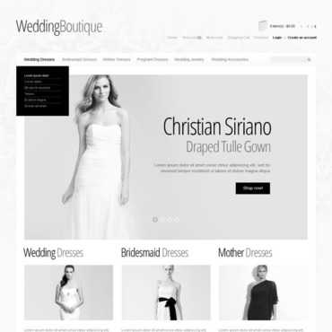 Wedding Shop OpenCart Template