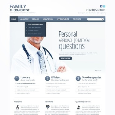 Family Psychologist Website Template
